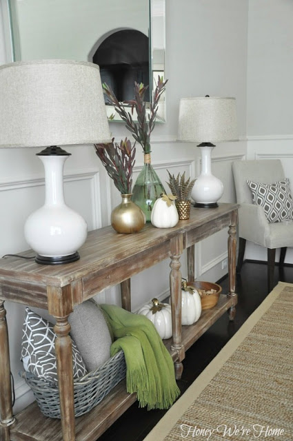 no fail guide on styling a console table. Many examples of console table styling with different decor styles.