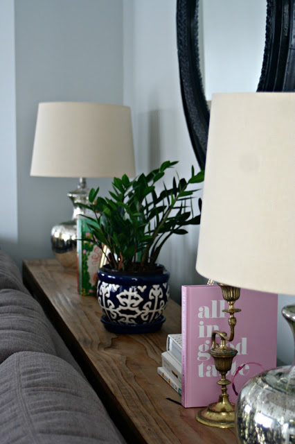 how to style a console table with 4 essential items
