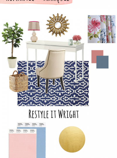 Romantic and Tranquil Office| Mood Board Monday