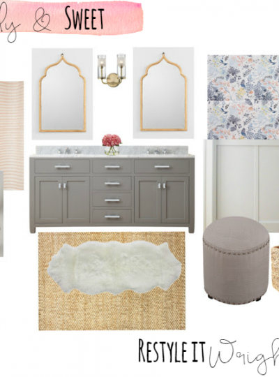 Girly & Sweet Bath| Mood Board Monday