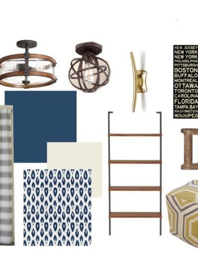 Industrial & Rustic Boy Room| Mood Board Monday