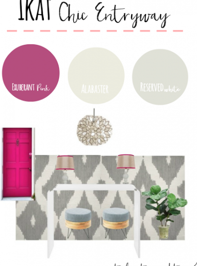 Ikat Chic Entryway Take 2| Mood Board Monday