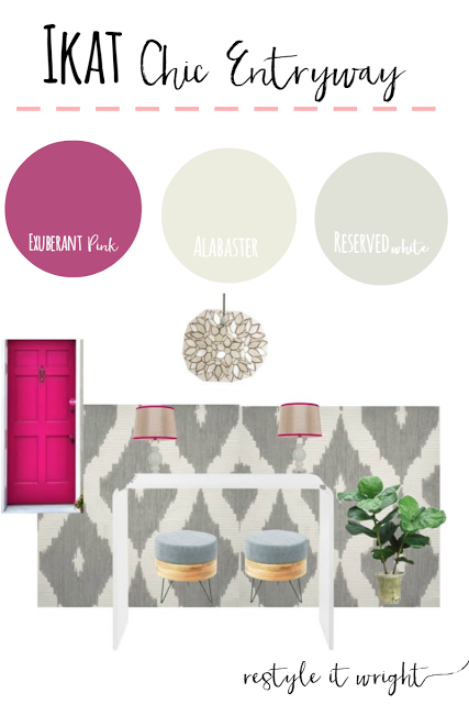ikat chic entry sherwin williams exuberant pink