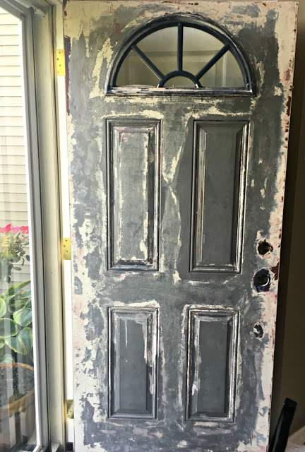 how to strip a front door using citristrip without sanding