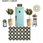 Black & Chic Front Porch| Mood Board Monday