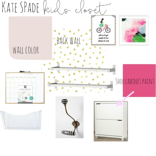 kate spade inspired mud room closet with sherwin williams breathless and gala pink