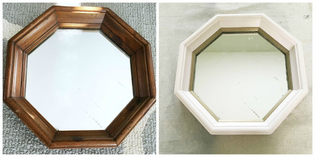 quick and easy diy mirror makeover with sample paint white dogwood and gold sharpie