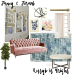 Fancy & Formal Living Room| Mood Board Monday