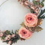 DIY Gold Hoop Fall Inspired Wreath
