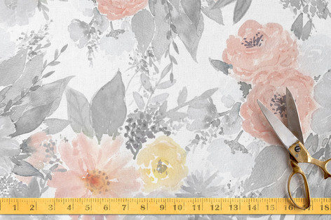 Minted Floral Fabric