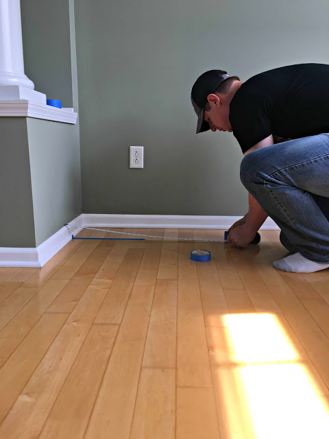 sherwin williams crushed ice, crown molding, craigslist chair makeover, ikea billy built ins