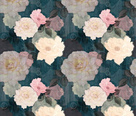 Spoonflower floral fabric