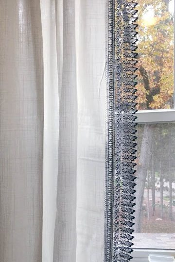 DIY Knock-Off Anthropologie Curtain