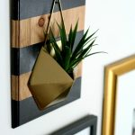 Modern Farmhouse Glam Wall Planter DIY