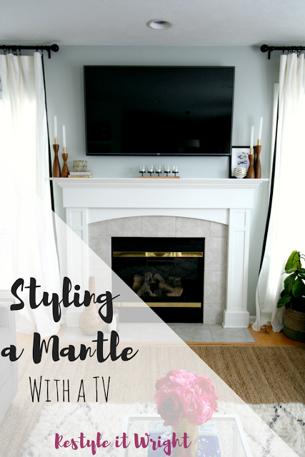 Styling A Mantle With Tv
