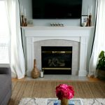 Styling a mantle with a TV