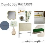 Emerald City Master Bedroom| Mood Board Monday
