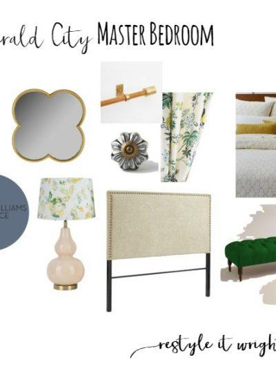 Emerald City Master Bedroom| Mood Board Monday