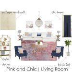 Mood Board Monday| Pink & Chic Living Room