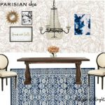 Parisian Chic Dining Room| Mood Board Monday