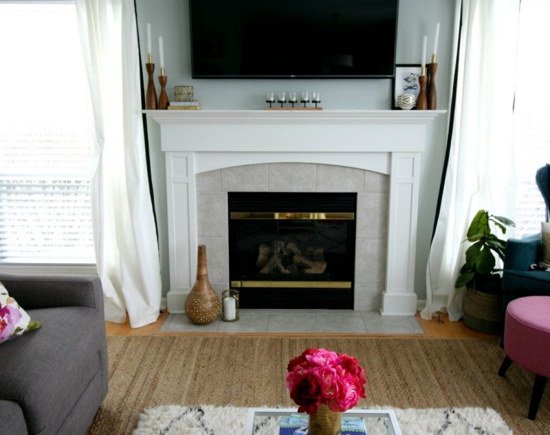 Styling A Mantle With A Tv Restyle It Wright